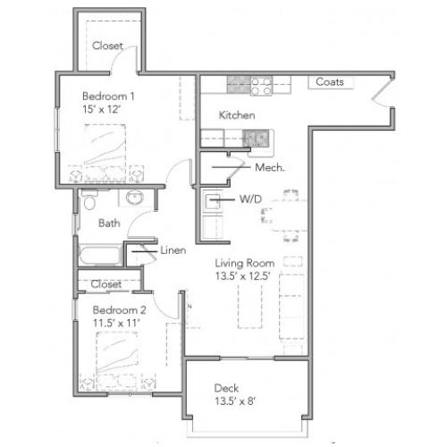 2 Bedroom B ADA