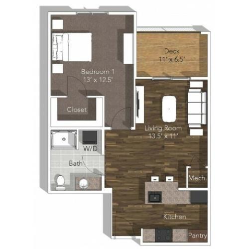 1 Bedroom Apartment (ADA) at Verandas