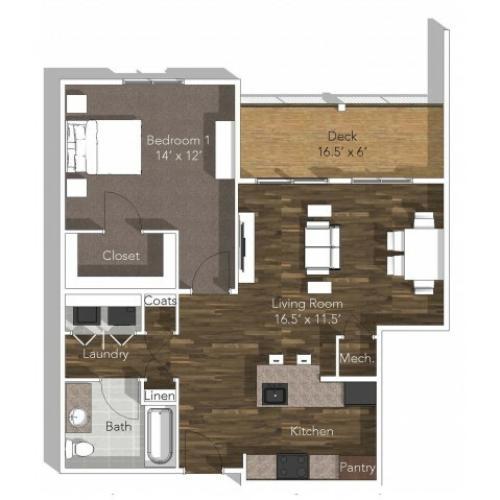 1 Bedroom Apartment at Verandas