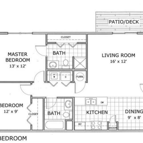 Furnished 1 Bedroom (With an Office)