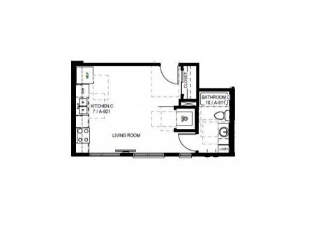 Floor Plan 1 | Apartments In Denver | Tennyson Place 1