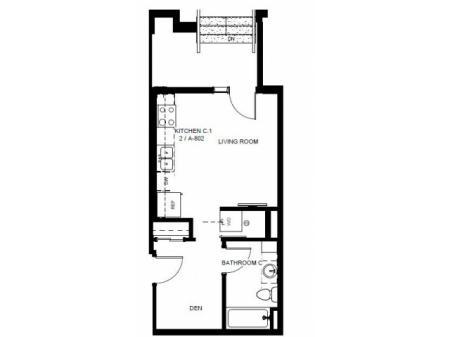 Floor Plan 3 | Apartments In Denver Colorado | Tennyson Place 1