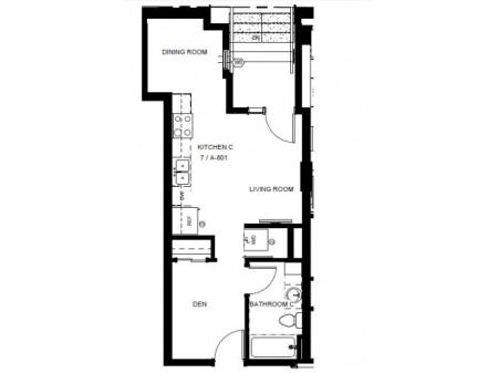 Floor Plan 4 | Denver Colorado Apartments | Tennyson Place 1