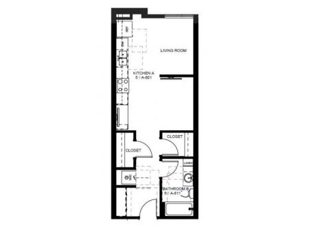 Floor Plan 5 | Apartments For Rent In Denver | Tennyson Place 1