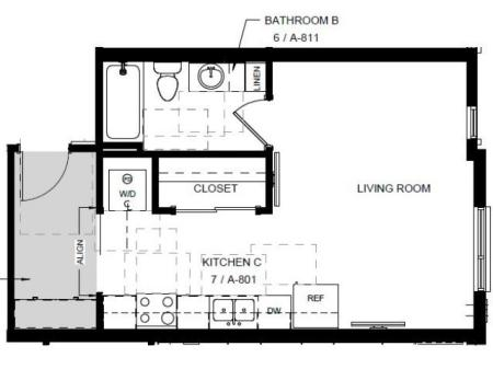 Floor Plan 9 | Denver Colorado Apartments | Tennyson Place 1