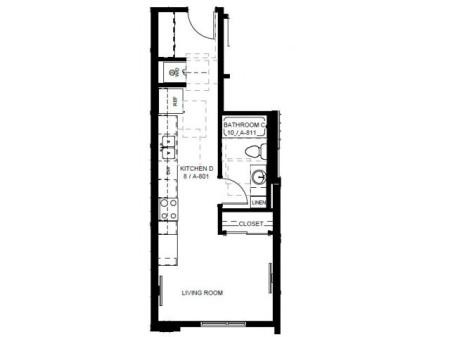 Floor Plan 11 | Apartments In Denver | Tennyson Place 1