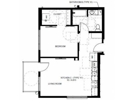 Floor Plan 18 | Apartments In Denver Colorado | Tennyson Place 1
