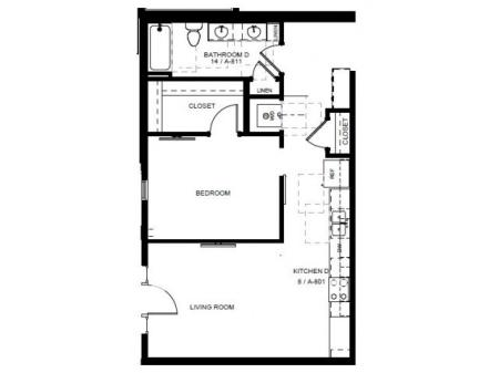 Floor Plan 15 | Apartments For Rent In Denver | Tennyson Place 1