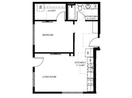 Floor Plan 16 | Apartments In Denver | Tennyson Place 1