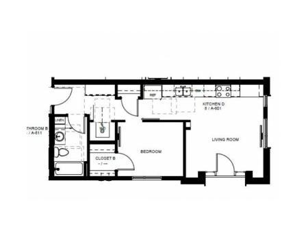 Floor Plan 13 | Apartments In Denver Colorado | Tennyson Place 1