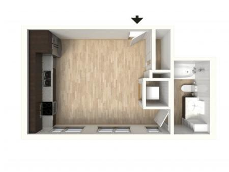 Floor Plan 1 | Apartments In Denver | Tennyson Place 2