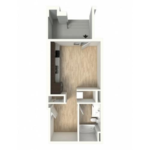 Floor Plan 3 | Apartments In Denver Colorado | Tennyson Place 2