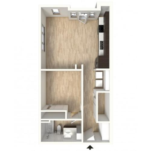 Floor Plan 14 | Denver Colorado Apartments | Tennyson Place 2