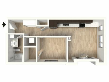 Floor Plan 13 | Apartments In Denver Colorado | Tennyson Place 2