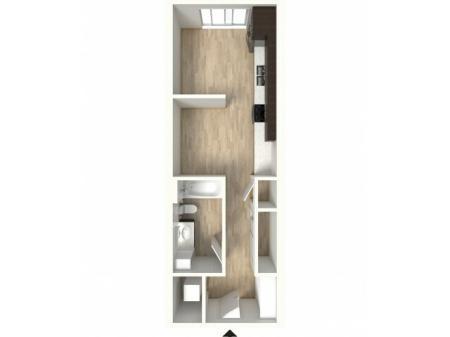Floor Plan 7 | 1 Bedroom Apartments In Denver Colorado | Tennyson Place 2