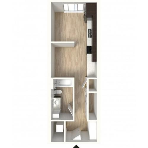 Floor Plan 7 | 1 Bedroom Apartments In Denver Colorado | Tennyson Place 2