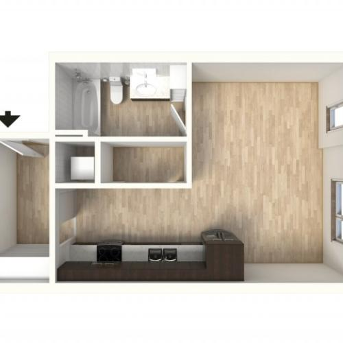 Floor Plan 9 | Denver Colorado Apartments | Tennyson Place 2