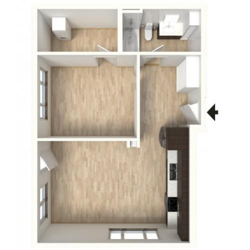 Floor Plan 16 | Apartments In Denver | Tennyson Place 2