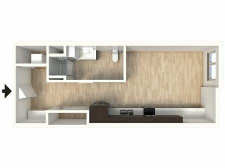 Floor Plan 12 | 1 Bedroom Apartments In Denver Colorado | Tennyson Place 2