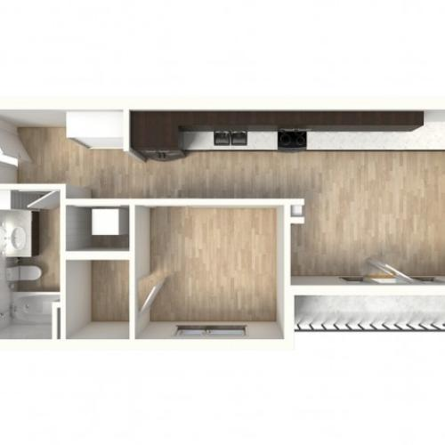 Floor Plan 17 | 1 Bedroom Apartments In Denver Colorado | Tennyson Place 2