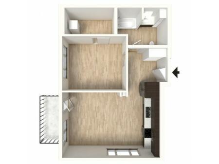 Floor Plan 18 | Apartments In Denver Colorado | Tennyson Place 2