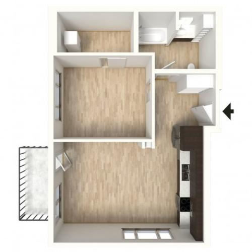 Floor Plan 18 | Apartments In Denver Colorado | Tennyson Place 2