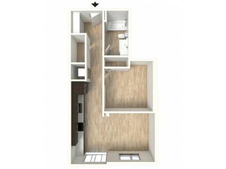 Floor Plan 19 | Denver Colorado Apartments | Tennyson Place 2