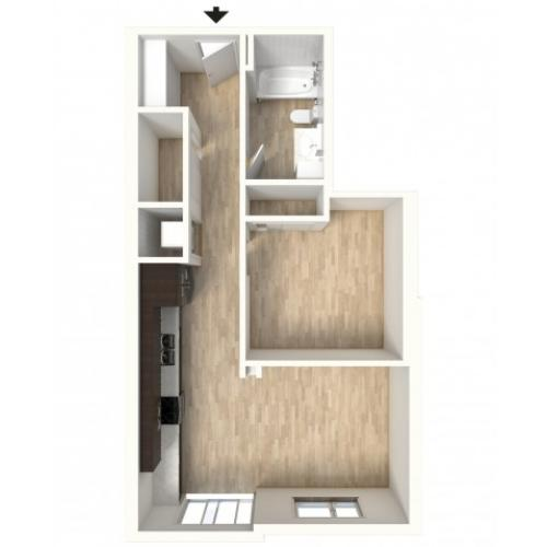 Floor Plan 19 | Denver Colorado Apartments | Tennyson Place 2