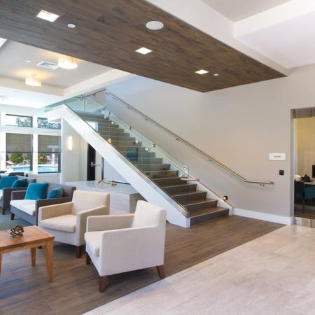 Expansive Clubhouse with Lounge Area | Modera Natick Center