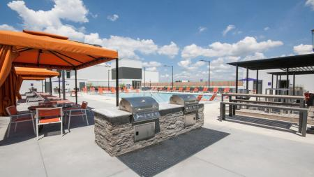 Outdoor Grills on Pool Deck | Modera Morningside
