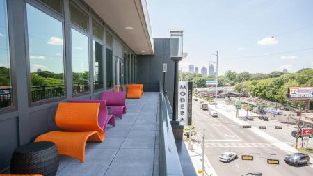 Outdoor Deck Overlooking Piedmont Avenue | Modera Morningside