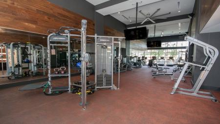 Weight Machines in Fitness Center | Modera Morningside