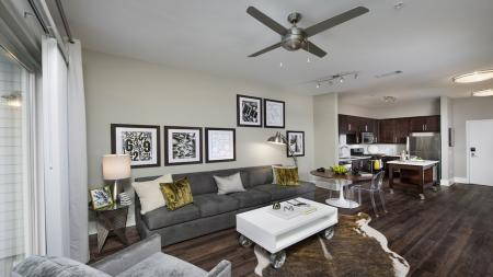 Apartment Living Room and Kitchen | Modera Morningside