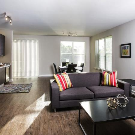 Open Apartment Kitchen and Living Area | Modera Westside