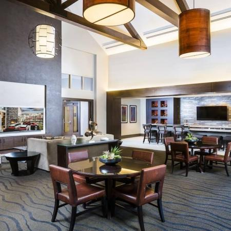 Community Clubhouse with Flat Screen Televisions | Modera Westside