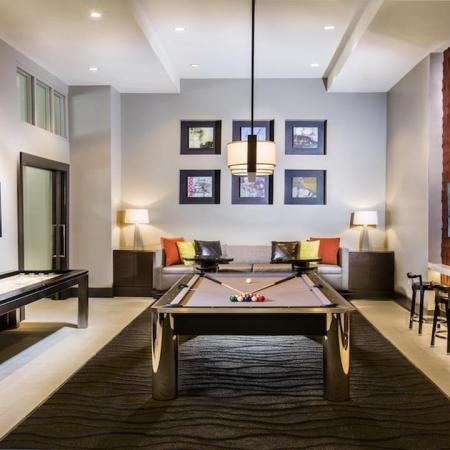 Billiards Table in Game Room | Modera Westside