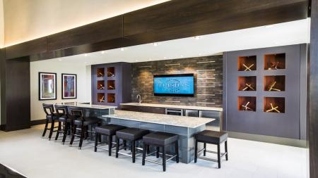 Bar and Kitchen Area in Clubhouse   Modera Westside