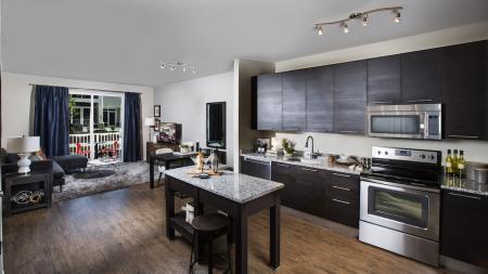 Modern Kitchen with Granite Counters   Modera Westside