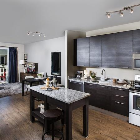 Modern Kitchen with Granite Counters | Modera Westside