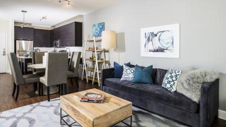 Open Kitchen and Living Room| Apartment Homes in Fairfax, VA | Modera Mosaic