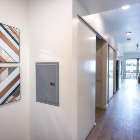 Storage Space Along Hallway | Modera Capitol Hill