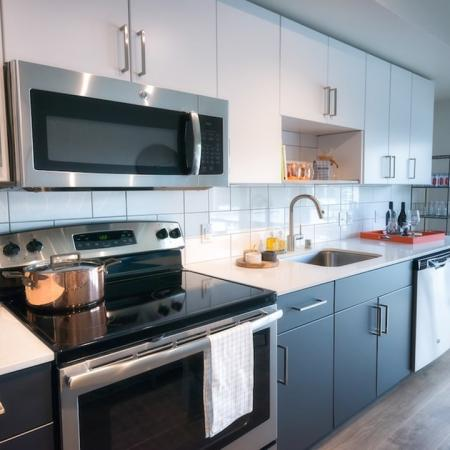 Modern Kitchens with Quartz Counters and Custom Cabinets | Modera Capitol Hill