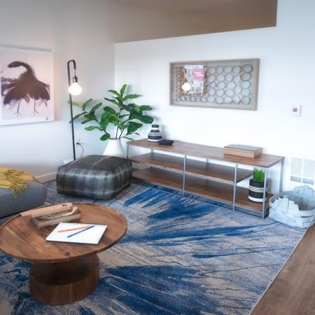 Spacious Living Room in One-Bedroom Apartment Home | Modera Capitol Hill