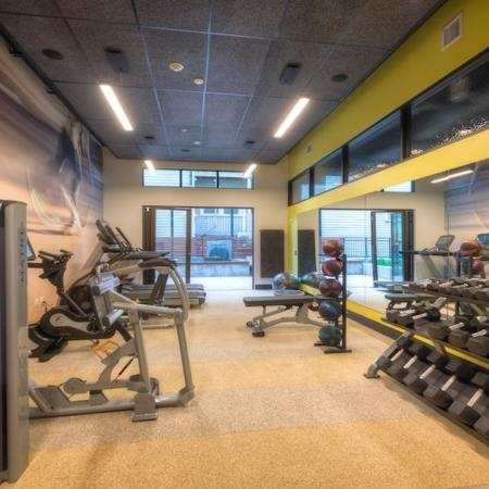 Fitness Center with Cardio and Weight Machines | Modera Capitol Hill
