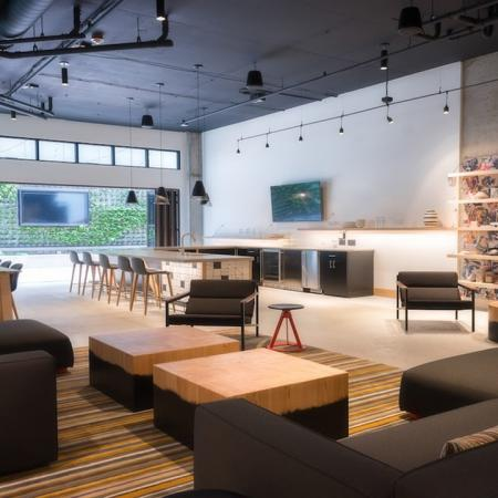 Resident Clubhouse with Lounge and Televisions | Modera Capitol Hill