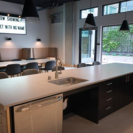 Entertaining Kitchen in Clubhouse | Modera Capitol Hill