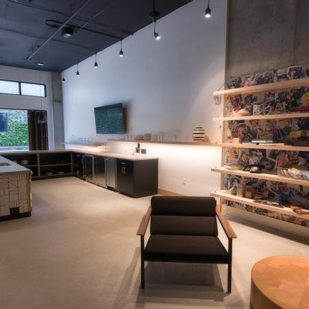 Resident Lounge and Kitchen   Modera Capitol Hill