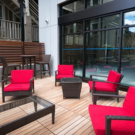 Outdoor Social Lounge   Modera Capitol Hill