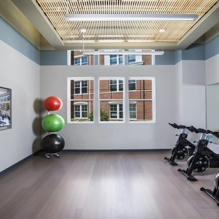 Spin Bikes in Group Fitness Studio | Modera Fairfax Ridge
