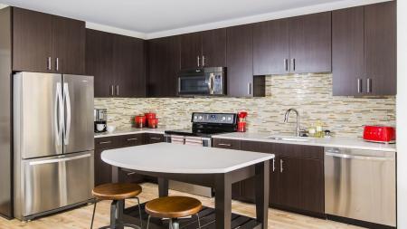 Custom Cabinetry and Kitchen Island   Apartments for rent in Fairfax, VA   Modera Fairfax Ridge